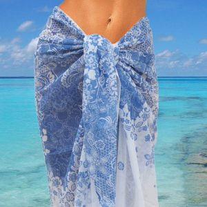 Pareo Lace Blue-White