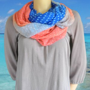 Loop-shawl Fading Dots Summer