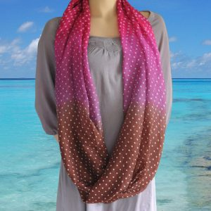 Loop-shawl Fading Dots Autumn