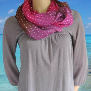 Loop-shawl Fading Dots Autumn