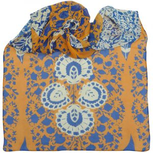 Shawl Kathy Copper-Cobalt