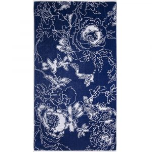 Elaiva strandlaken Graphic Flowers Blue