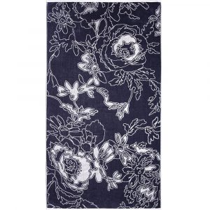 Elaiva strandlaken Graphic Flowers Gray