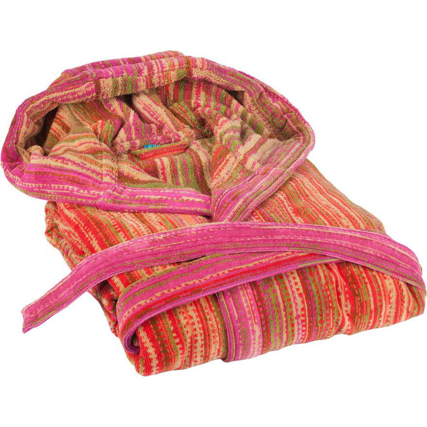 Elaiva hooded badjas Grass Pink