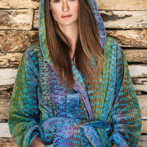 Elaiva hooded badjas Ocean Magic Blue