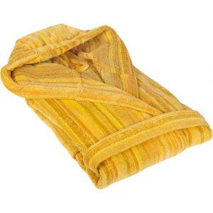 Elaiva hooded badjas Shadows Yellow