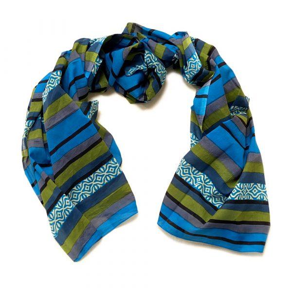 Pareo Blue-green Stripes