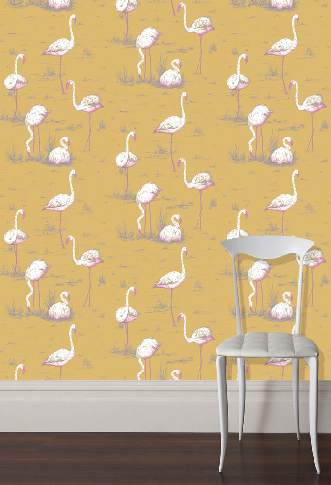 Cole and Son behang Flamingos 6042