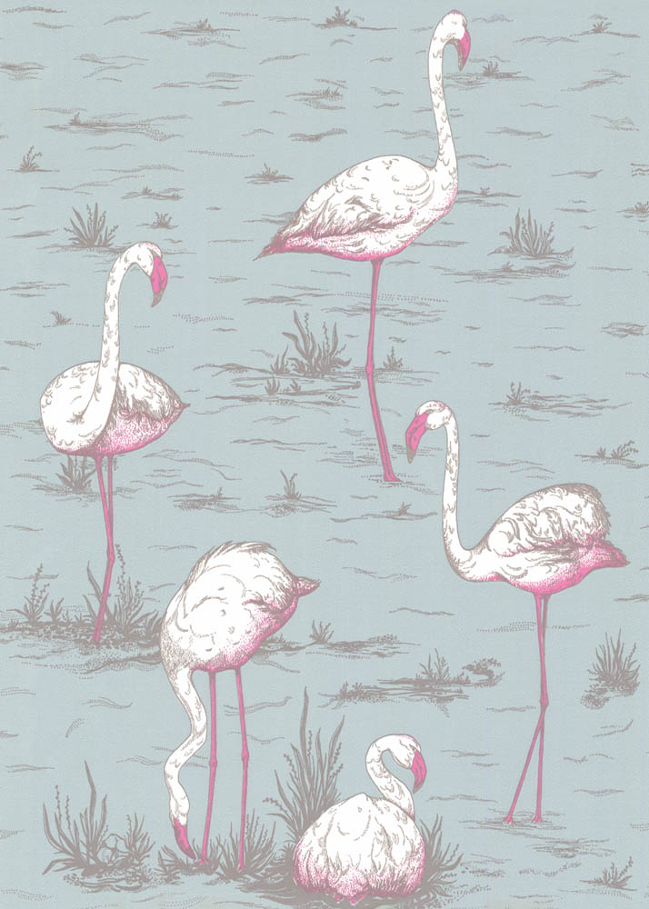 Cole and Son behang Flamingos 6044