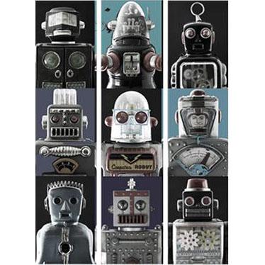 Casamance panoramisch behang Robots