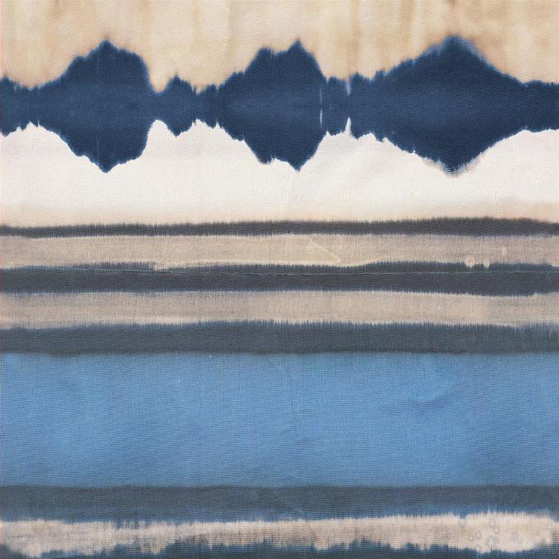 Casamance panoramisch behang Encre de Chine blauw