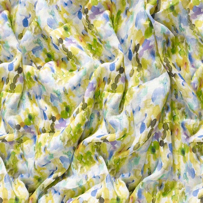 Casamance panoramisch behang Etincelle des Tropiques lemon