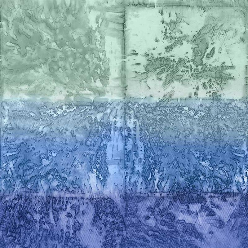 Casamance panoramisch behang Expression Minerale blauw