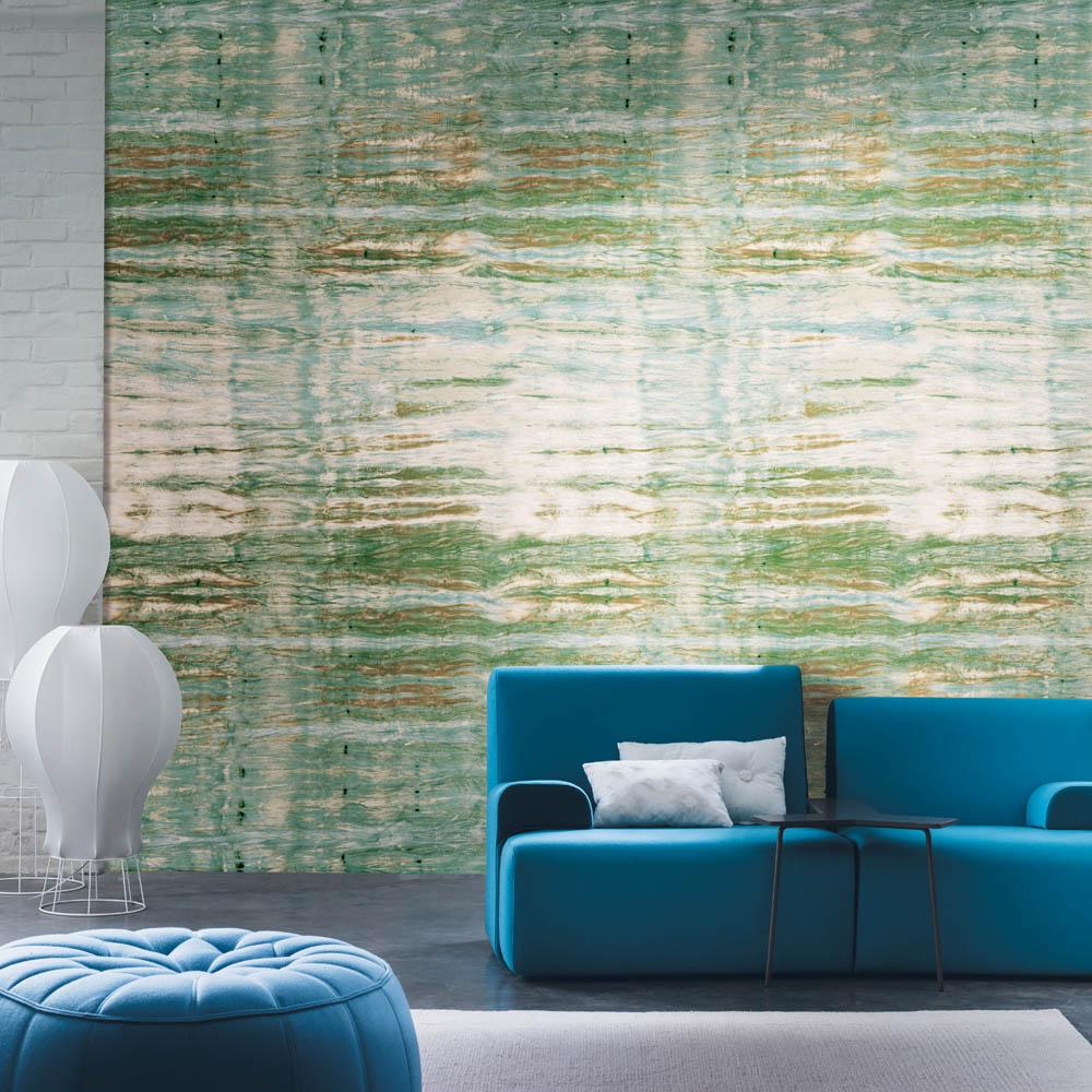 Casamance panoramisch behang Emotion Panoramique blauw