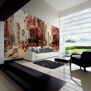 Casamance panoramisch behang Ville Advertising