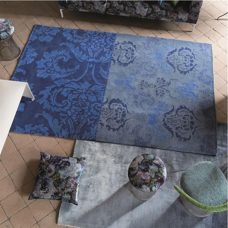 Designers Guild tapijt Kashgar Indigo