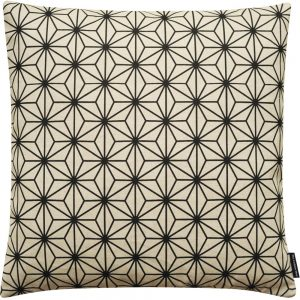 The Cushion Shop kussen Geo Flowers Natural