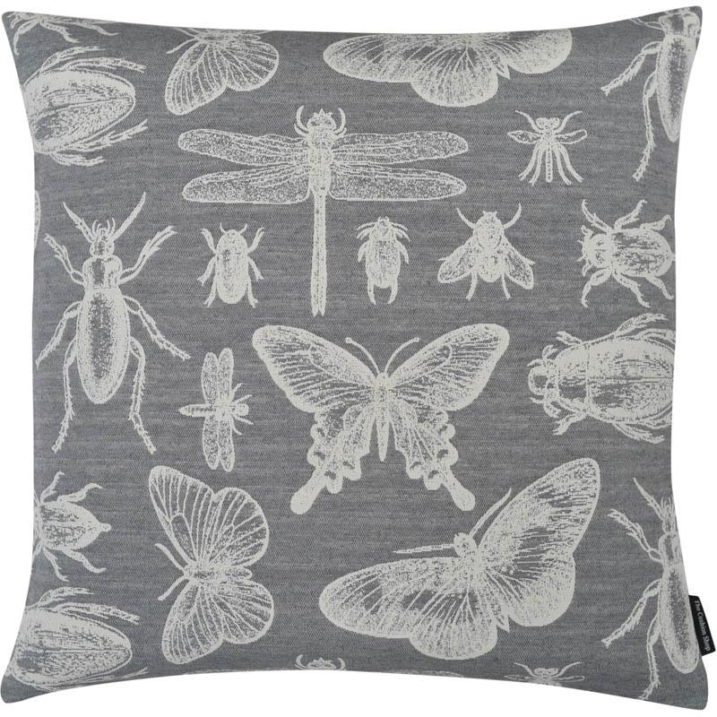 The Cushion Shop kussen Bugs grey