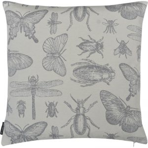 The Cushion Shop kussen Bugs grey