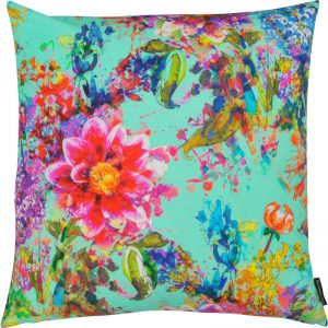 The Cushion Shop kussen Spring turquoise