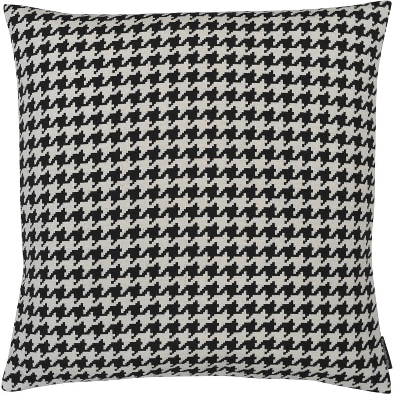 The Cushion Shop kussen Pied de Poule black
