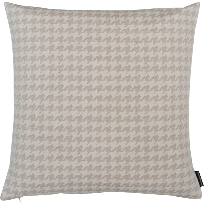 The Cushion Shop kussen Pied de Poule ecru