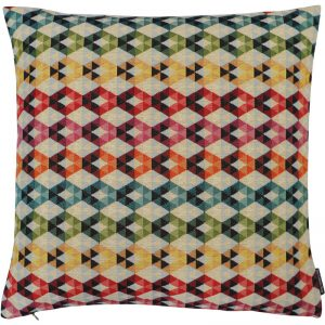 The Cushion Shop kussen Rainbow Diamond