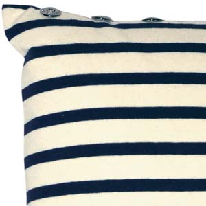 Jean Paul Gaultier Home kussen Petit Marin ecru-blue