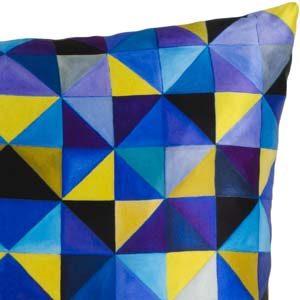 Mariska Meijers kussen Bold Cubism French Blue
