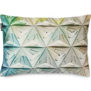 Snurk kussen Geogami blauw-groen