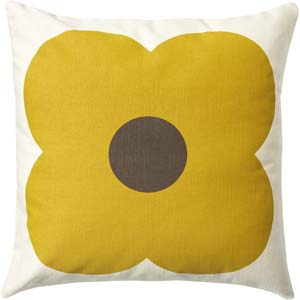 Orla Kiely kussen Giant Abacus Chocolate Sunflower