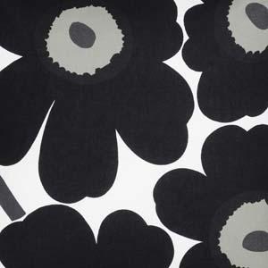 Marimekko ovenwant Pieni Unikko zwart