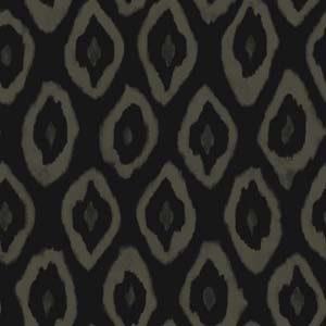 Mariska Meijers behang Painted Ikat Black