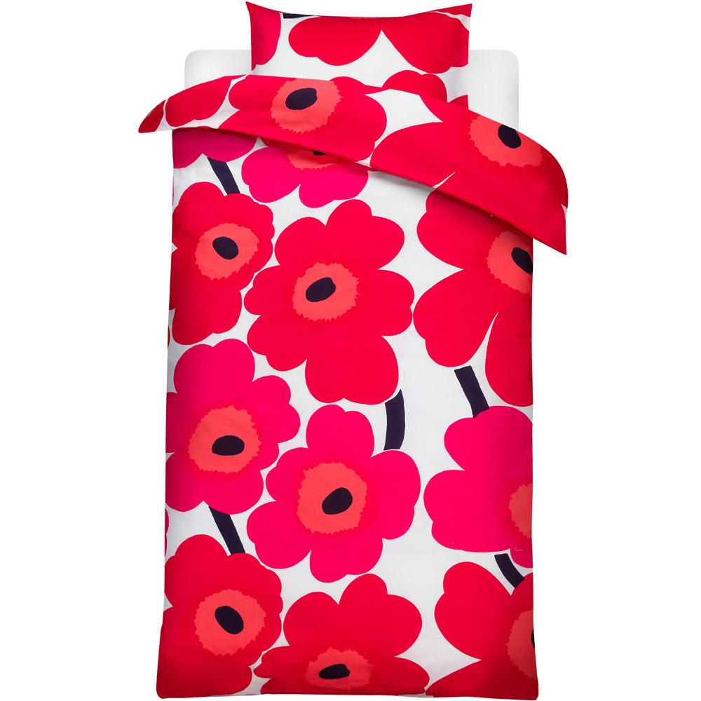 Marimekko beddengoed Unikko rood