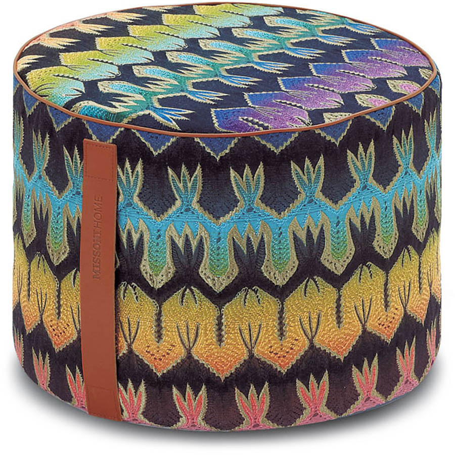Missoni Home cilinder poef Roing