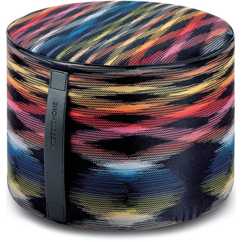 Missoni Home cilinder poef Stoccarda