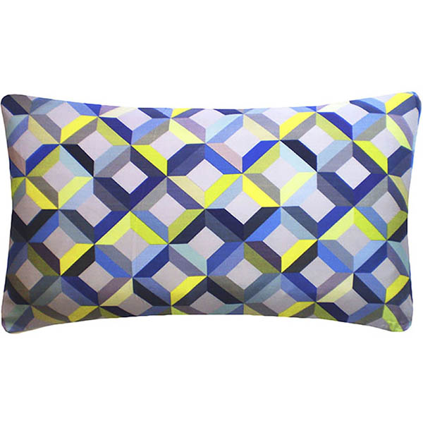 Nitin Goyal kussen Chevron Lime-Grey