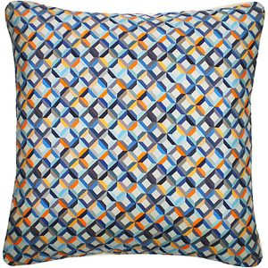 Nitin Goyal kussen Small Chevron Teal-Yellow