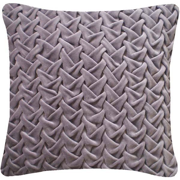 Nitin Goyal gesmokt kussen Wave Lavender Grey