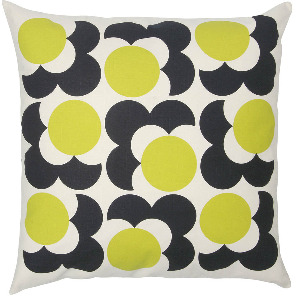 Orla Kiely groot kussen Spot Shadow Flower Lemon