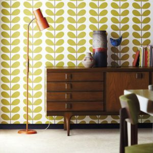 Orla Kiely behang Classic Stem Seagreen
