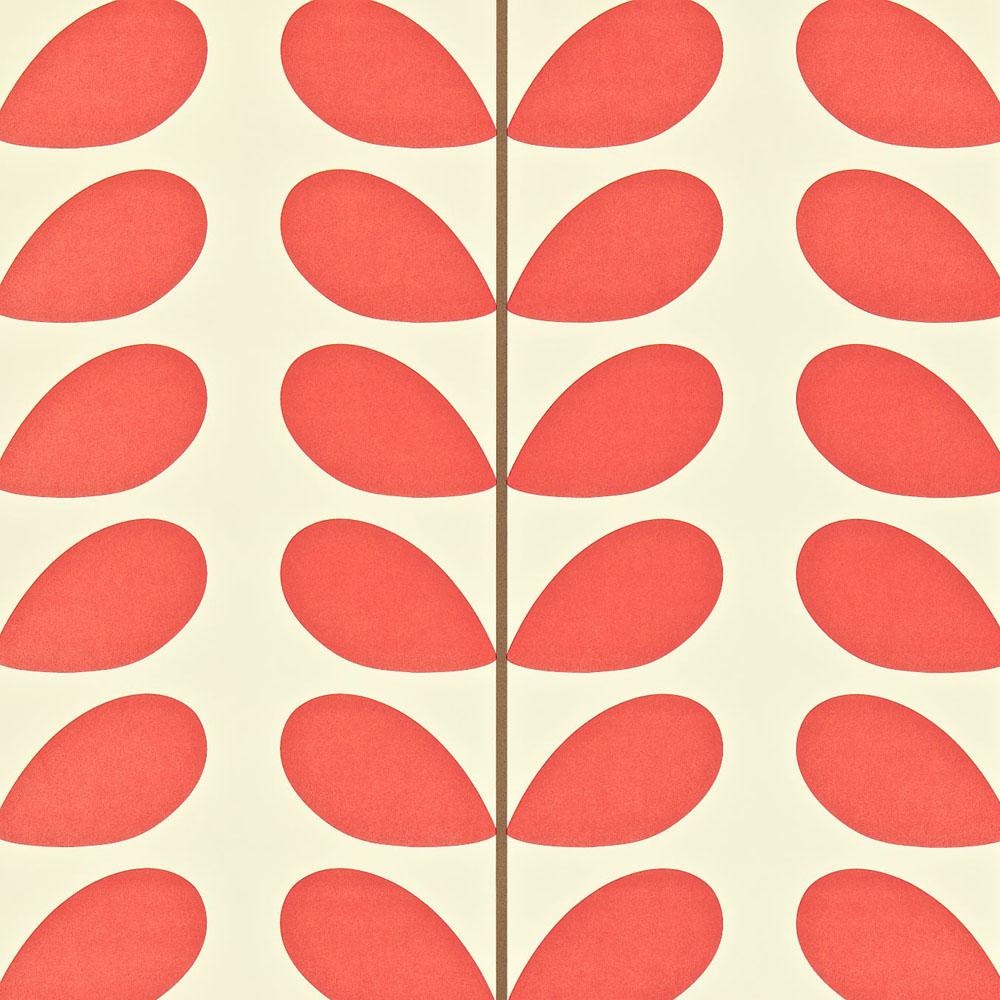 Orla Kiely behang Classic Stem Poppy
