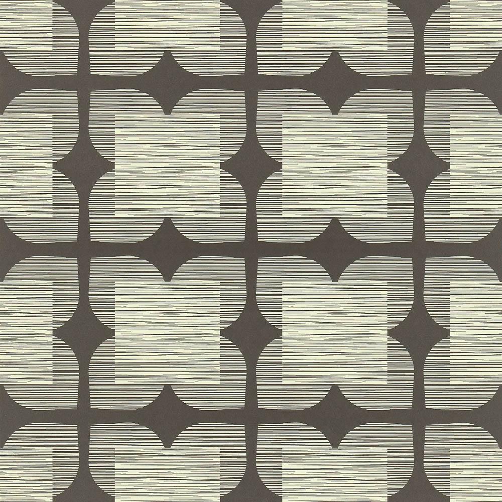 Orla Kiely behang Flower Tile Black