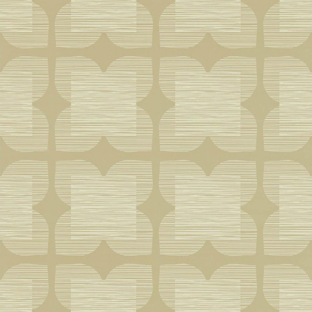 Orla Kiely behang Flower Tile Grey