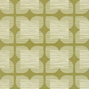 Orla Kiely behang Flower Tile Olive