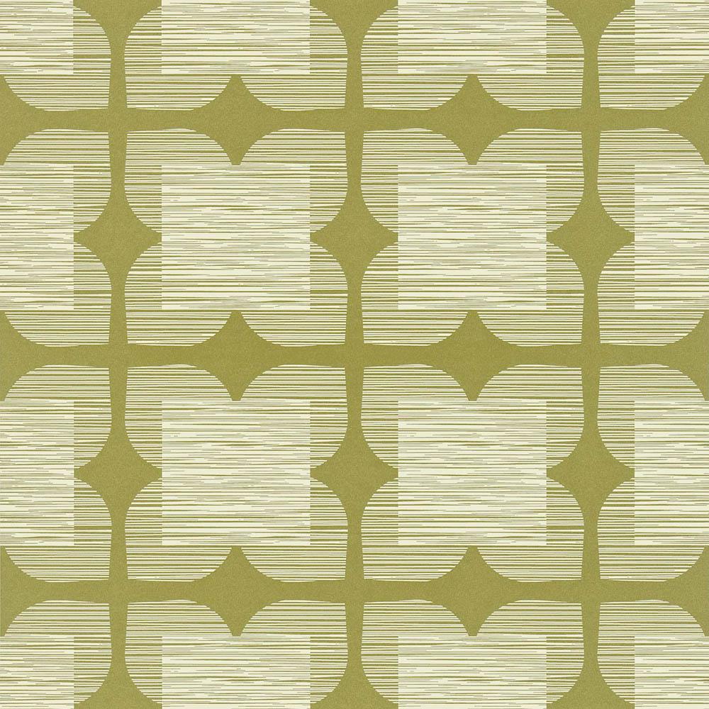 Orla Kiely behang Flower Tile Olive