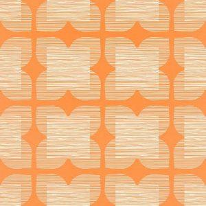 Orla Kiely behang Flower Tile Orange