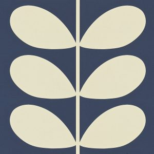 Orla Kiely behang Giant Stem Navy