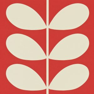Orla Kiely behang Giant Stem Red