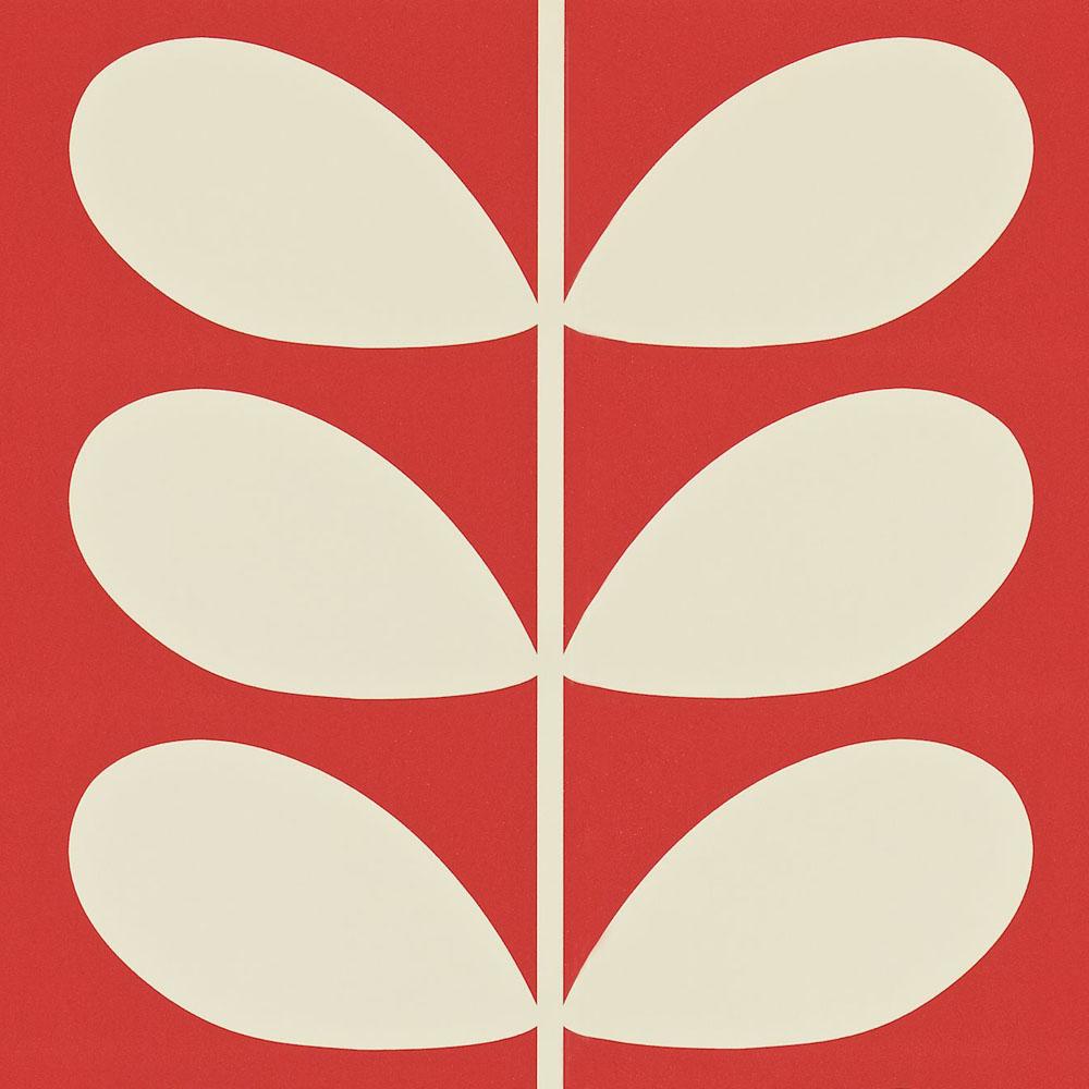 Orla Kiely behang Giant Stem Red